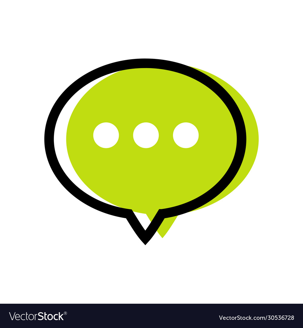 chat logo icon design comment symbol royalty free vector vectorstock