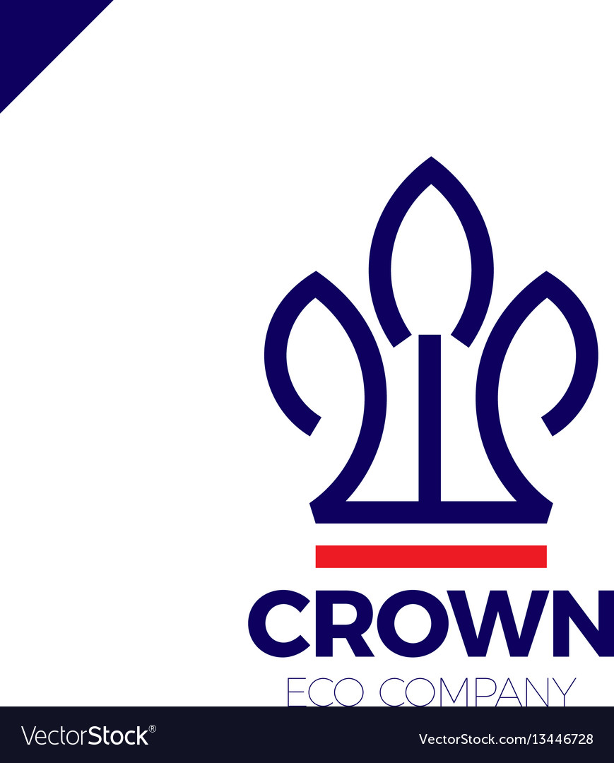 Eco nature green leaves crown logo
