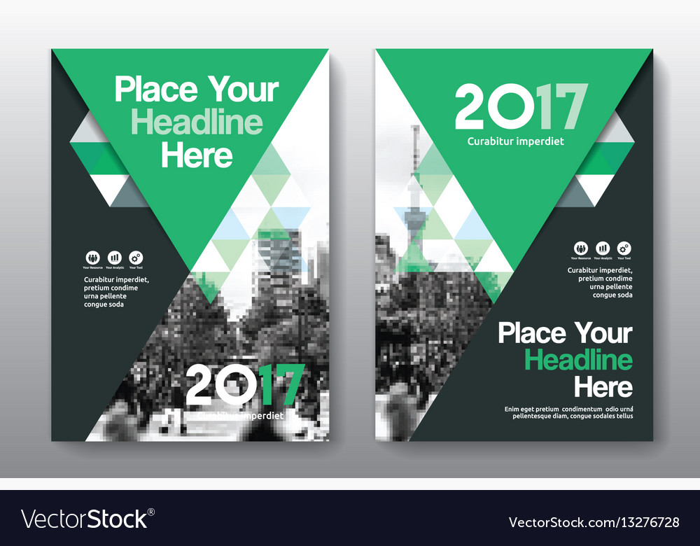 Green color scheme business book cover design