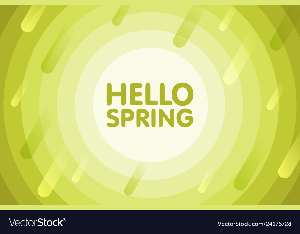 Hello spring modern cover design seasonal