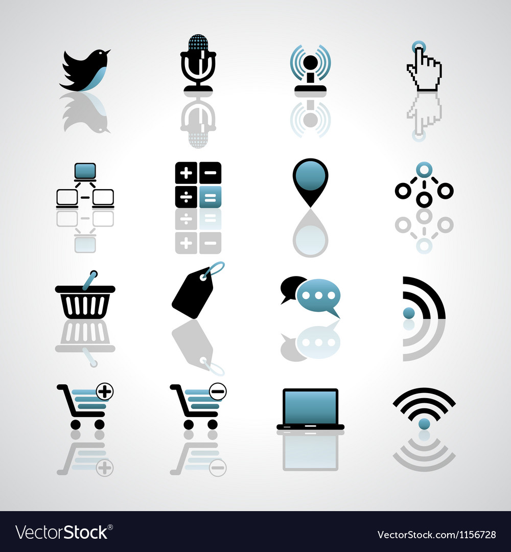 Internet-business icons vector image
