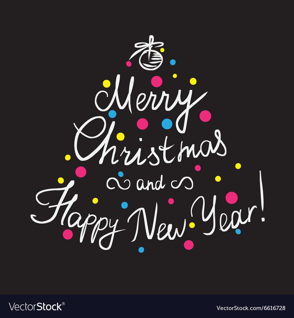 Merry Christmas and happy new year handmade