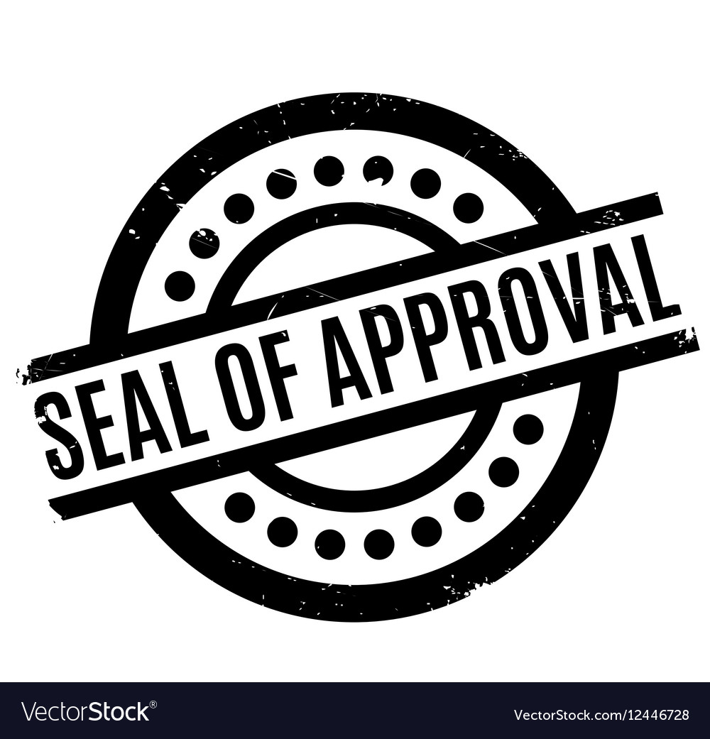 Seal Of Approval Rubber Stamp Vector Image