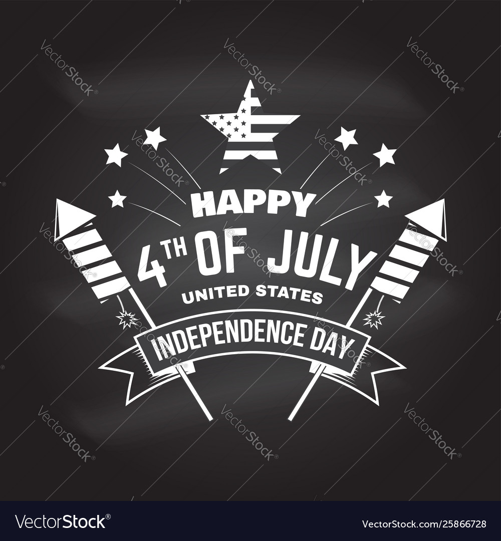 Vintage 4th july design in retro style