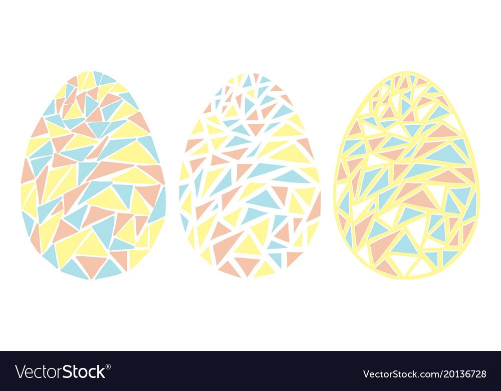 Vintage easter eggs spring season isolated