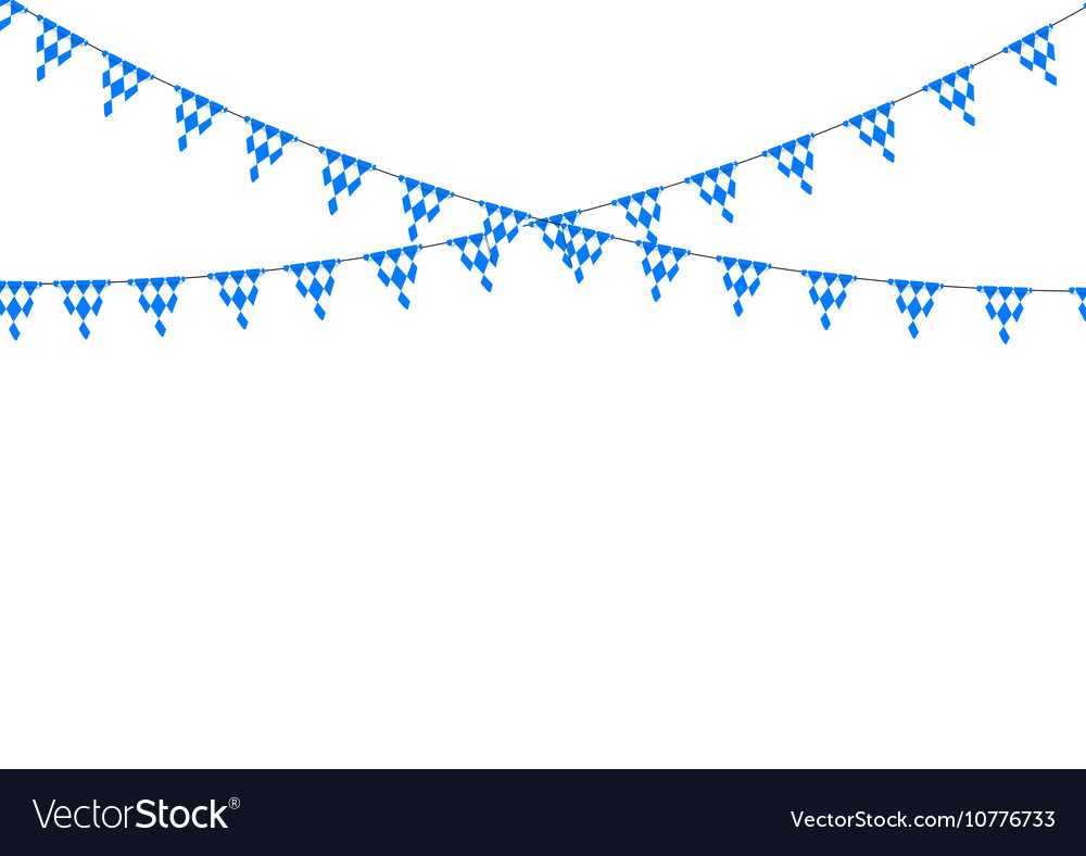 Bavarian bunting festoon from Germany with diamond