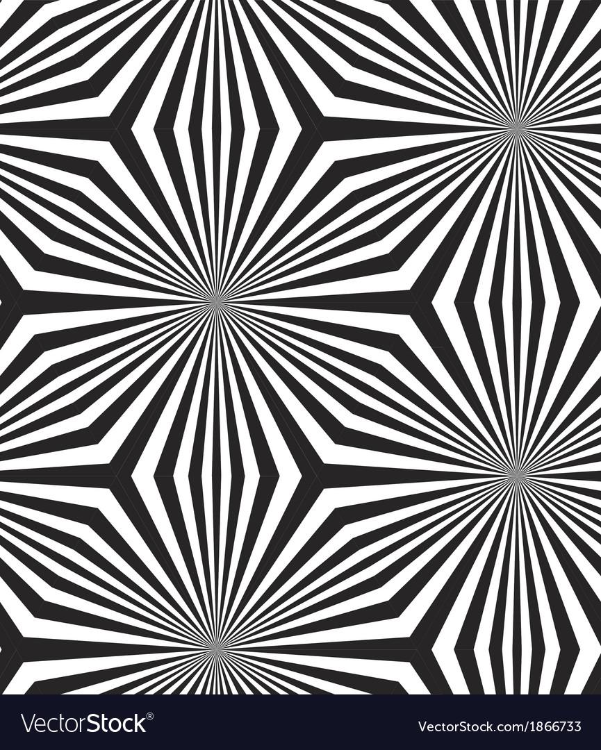 Black and White Op Art Design Seamless Pattern