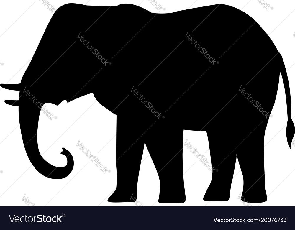 cartoon silhouette icon black elephant royalty free vector rh vectorstock com elephant vector images elephant vector eps