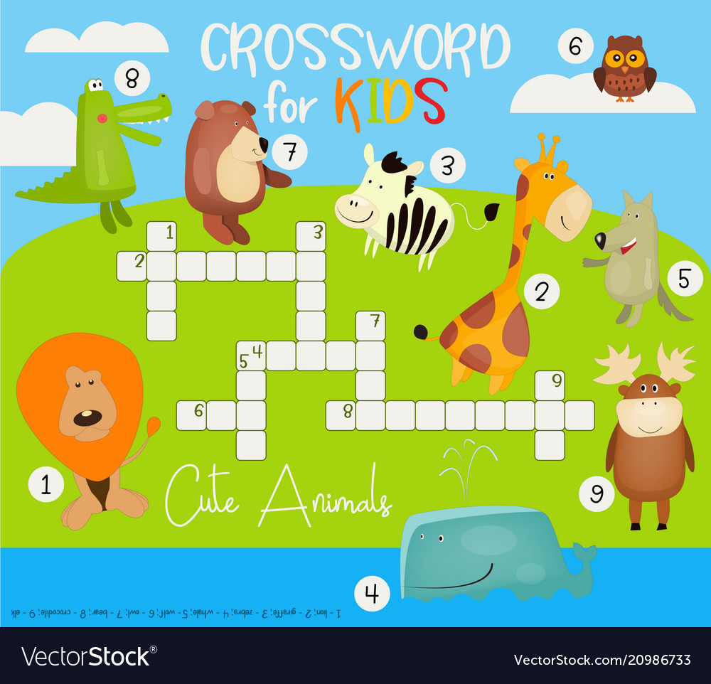 Colorful crossword in english