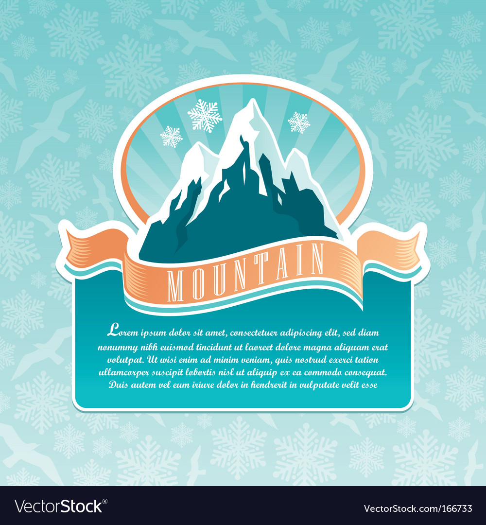 Mountain landmark emblem vector image