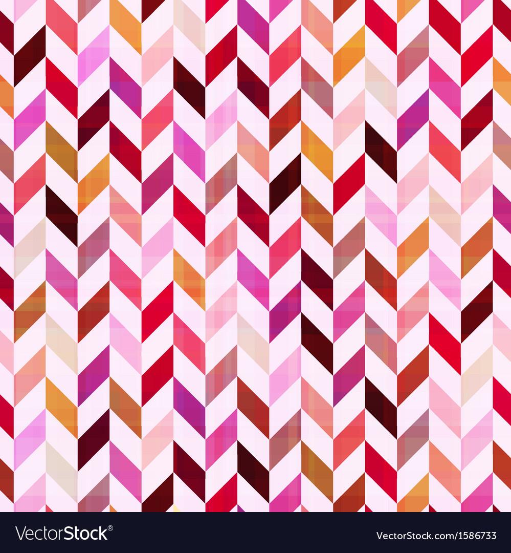 Seamless geometric chevron pattern vector image