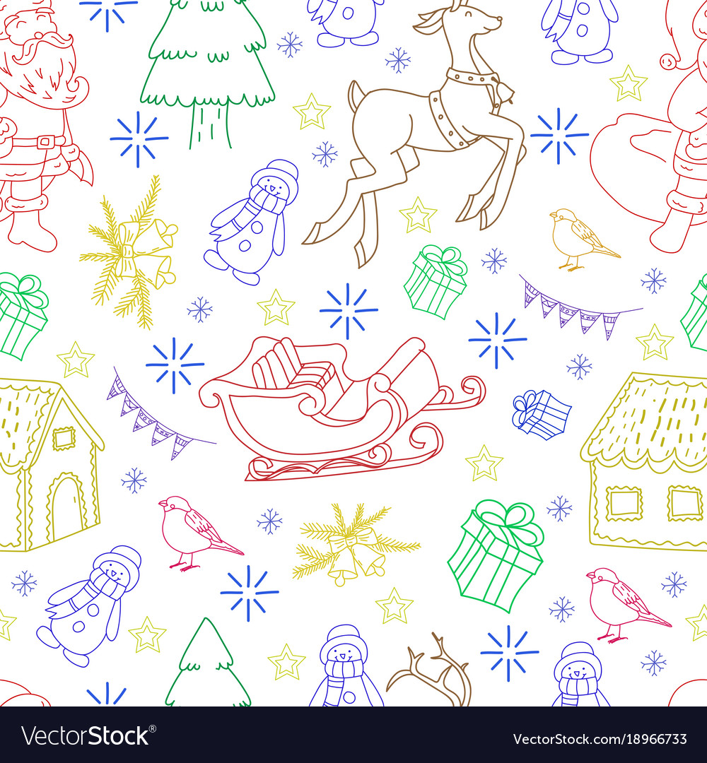 Sketchy seamless pattern hand drawn doodle