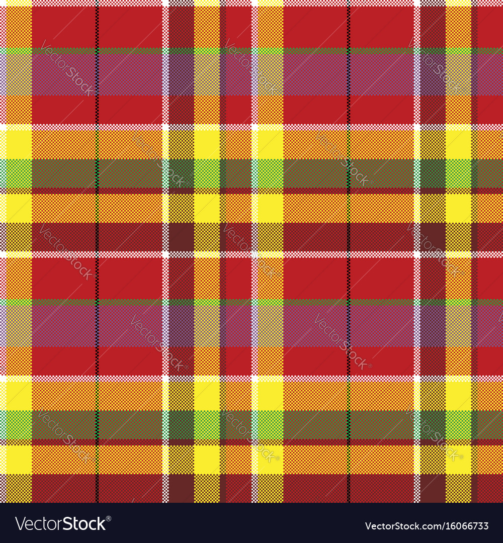 madras Summer seamless pattern madras check fabric Vector Image madras
