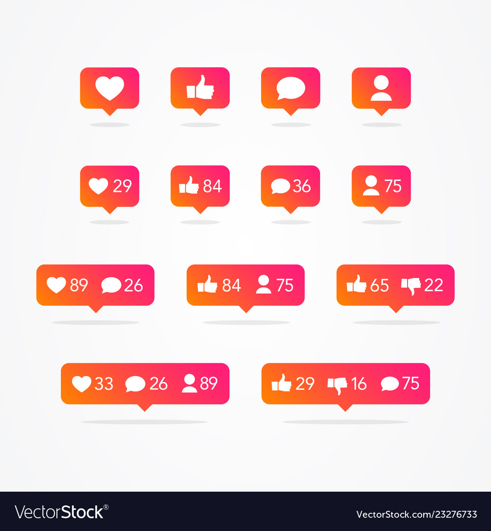 Tooltip speech bubble social network icons