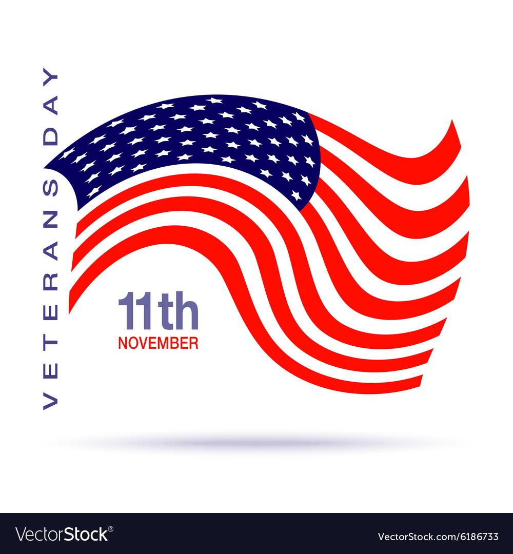 Veterans day flag design logo emblem