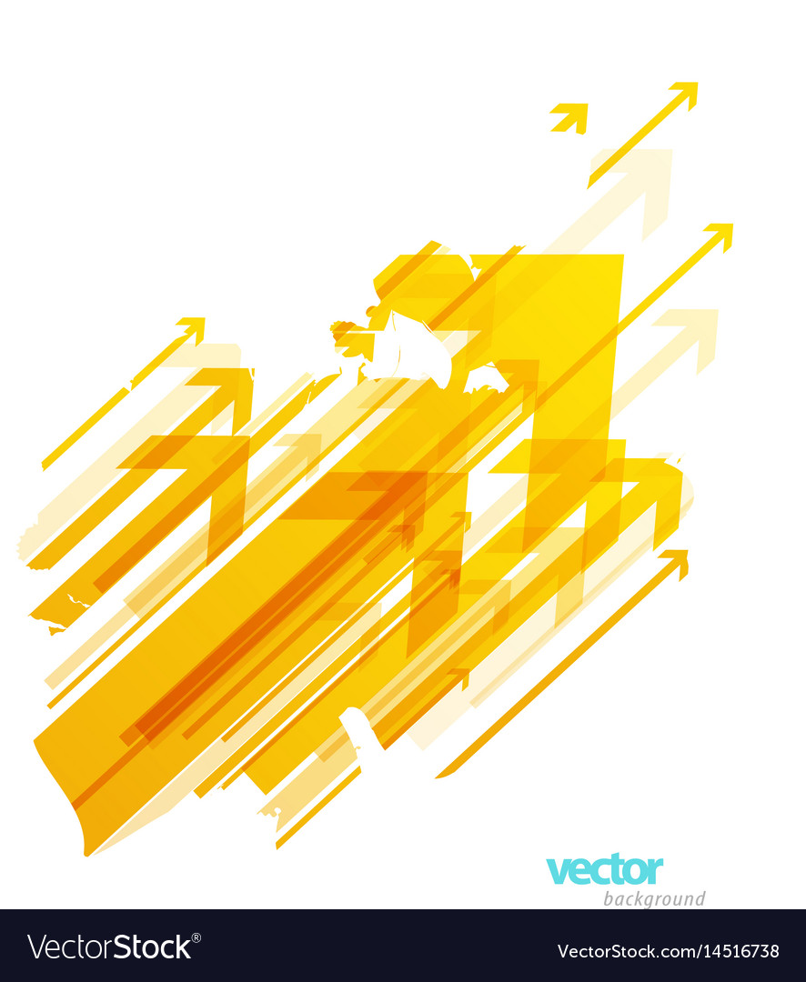 Abstract Yellow Arrows Background Wallpaper