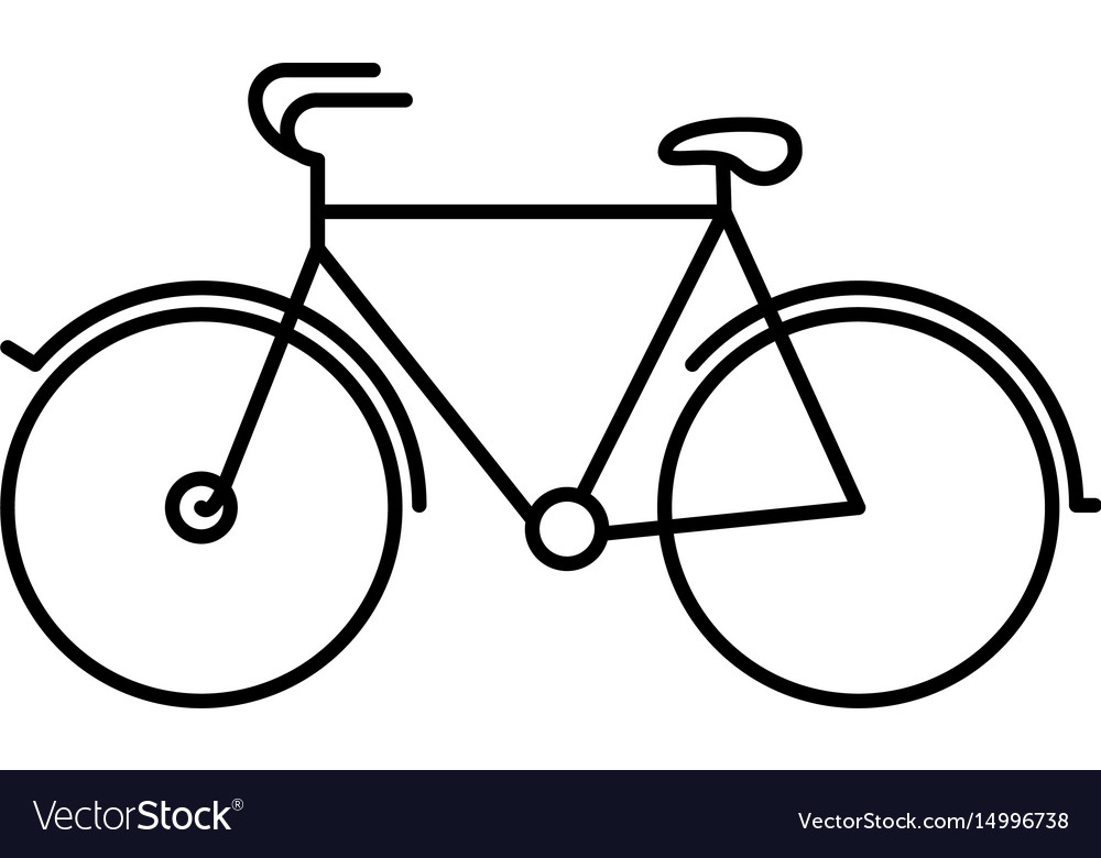 Black silhouette with tourist bicycle icon