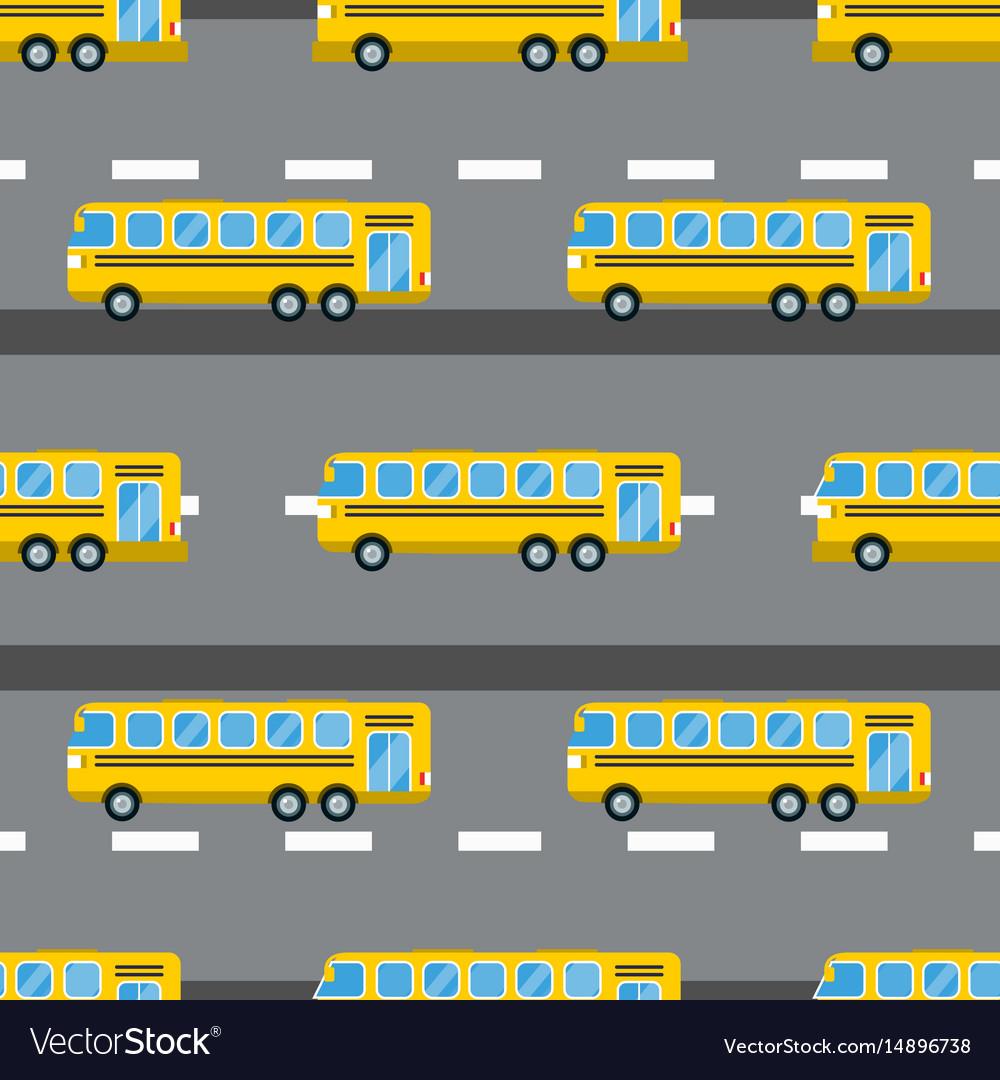City bus seamless pattern