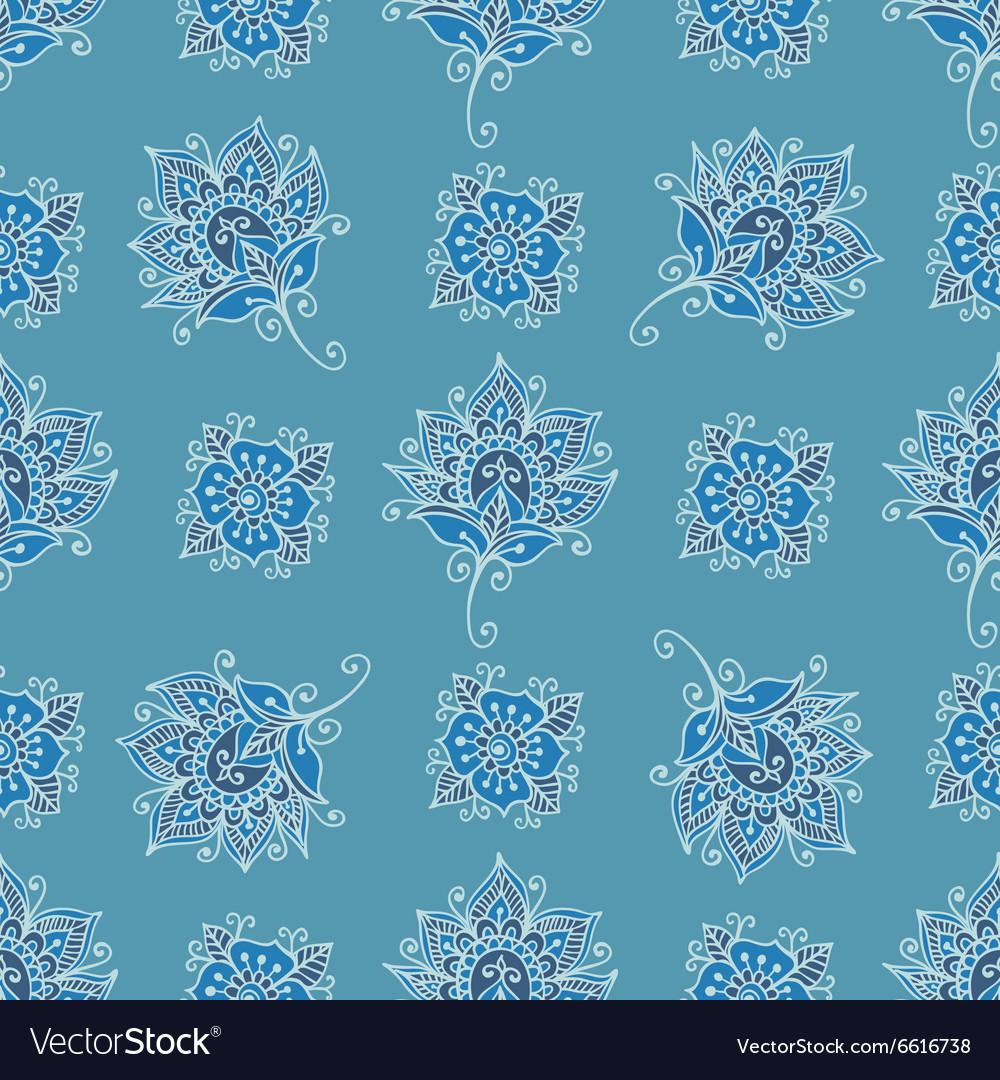 Flower paisley pattern