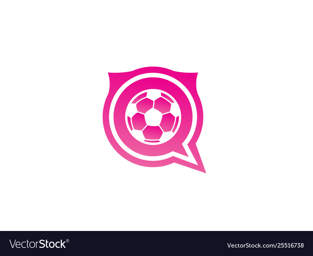 Football for logo design in a chat icon