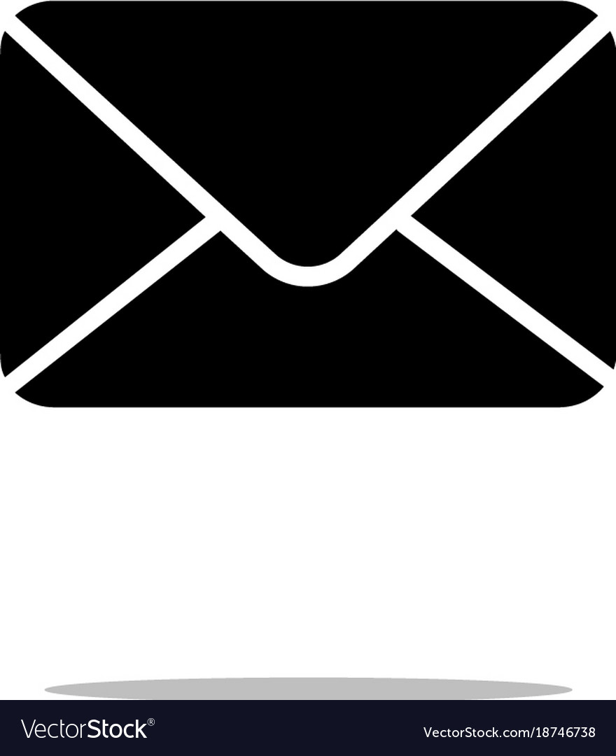mail icon in trendy flat style isolated on white vector image