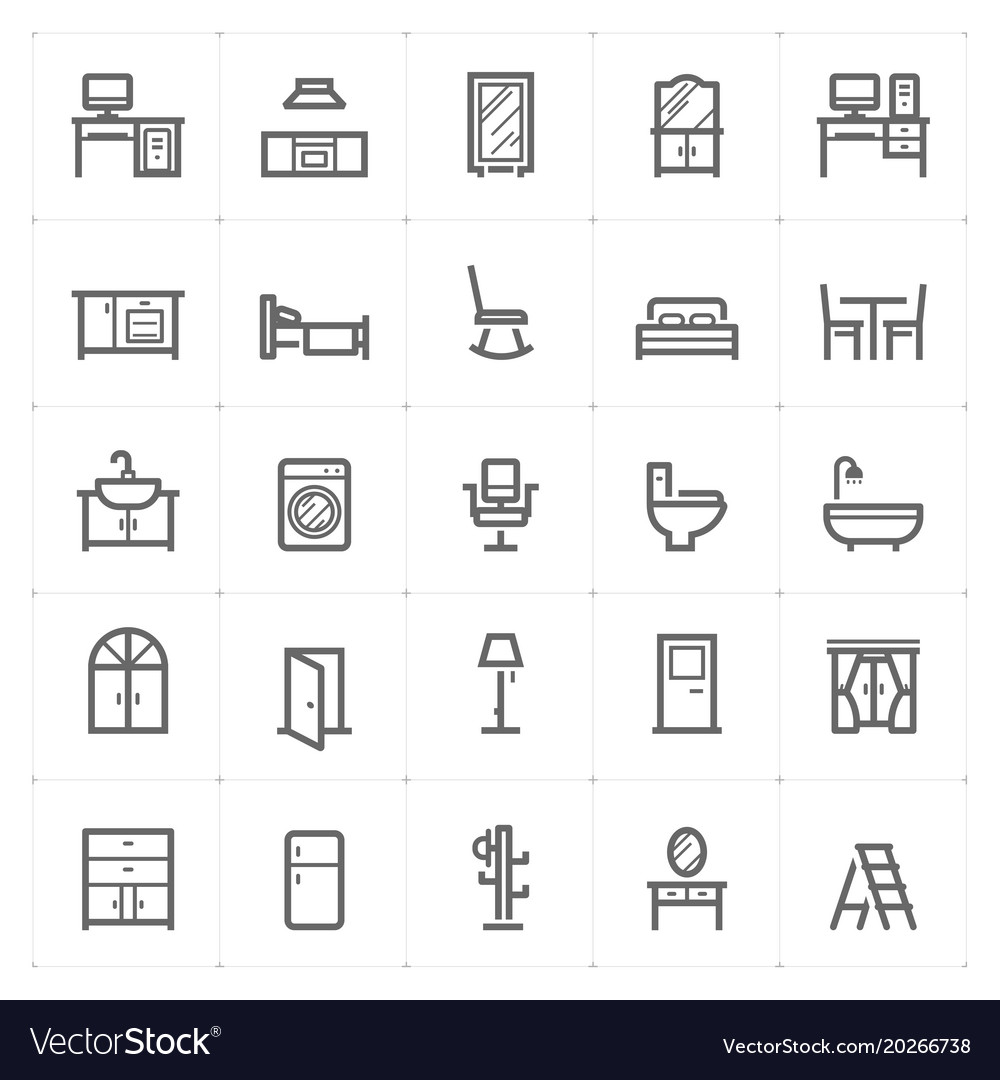 Mini icon set - furniture icon