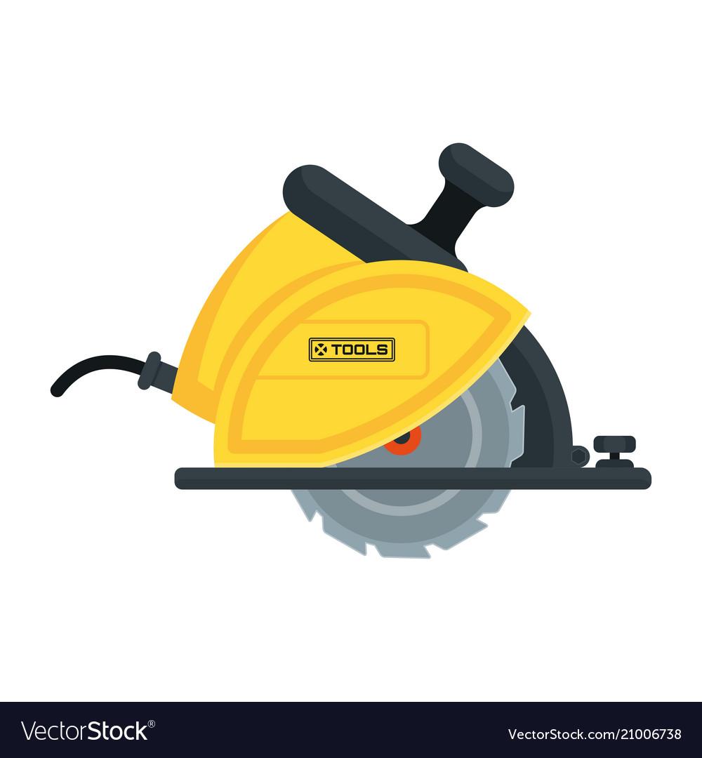 Power tools circular saw icon