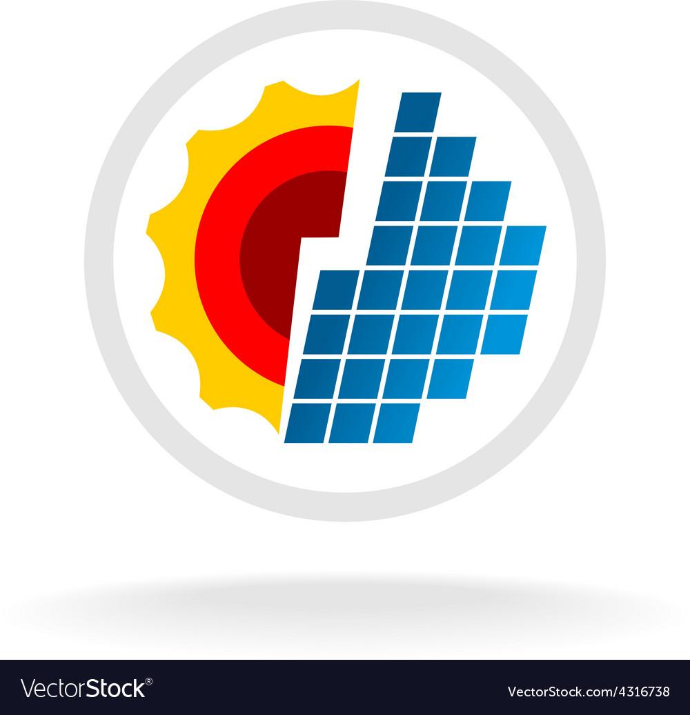 Solar energy logo vector image