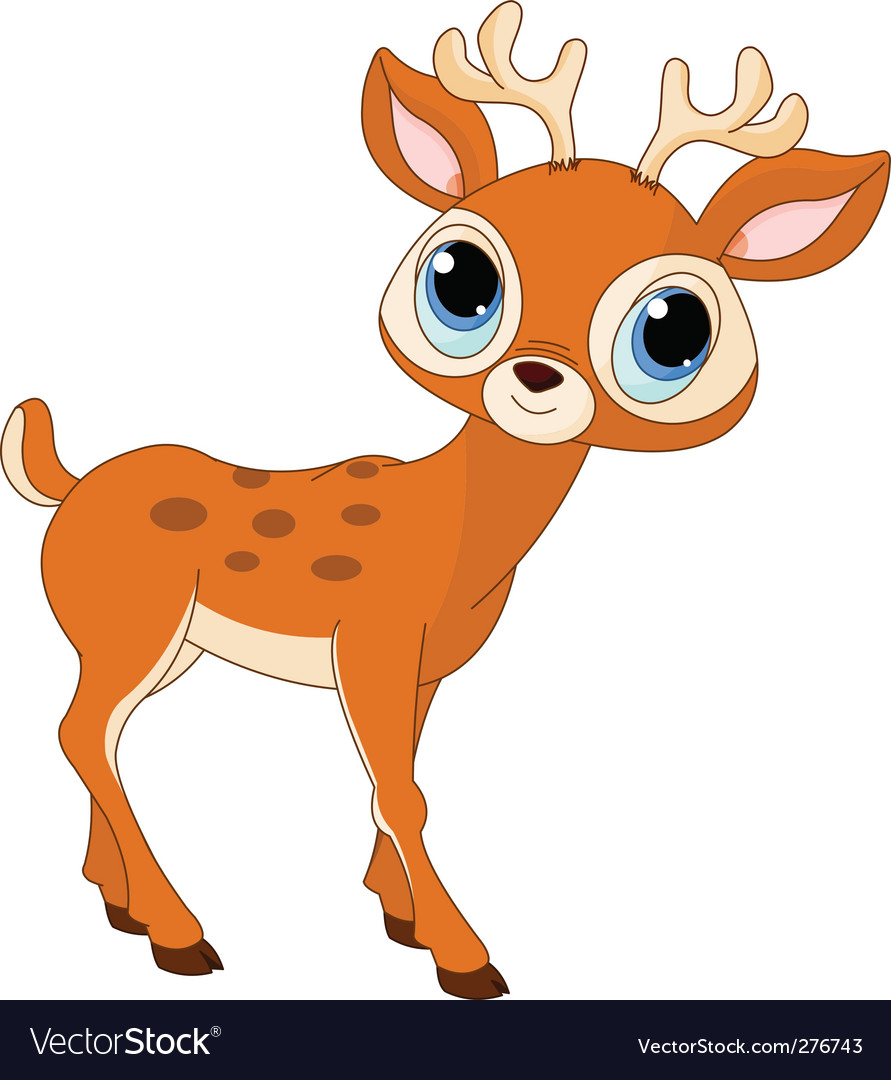 Cartoon Deer Royalty Free Vector Image Vectorstock