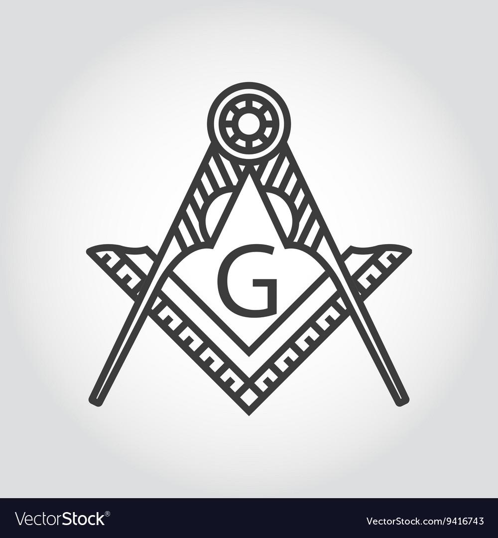 Grey masonic freemasonry emblem icon