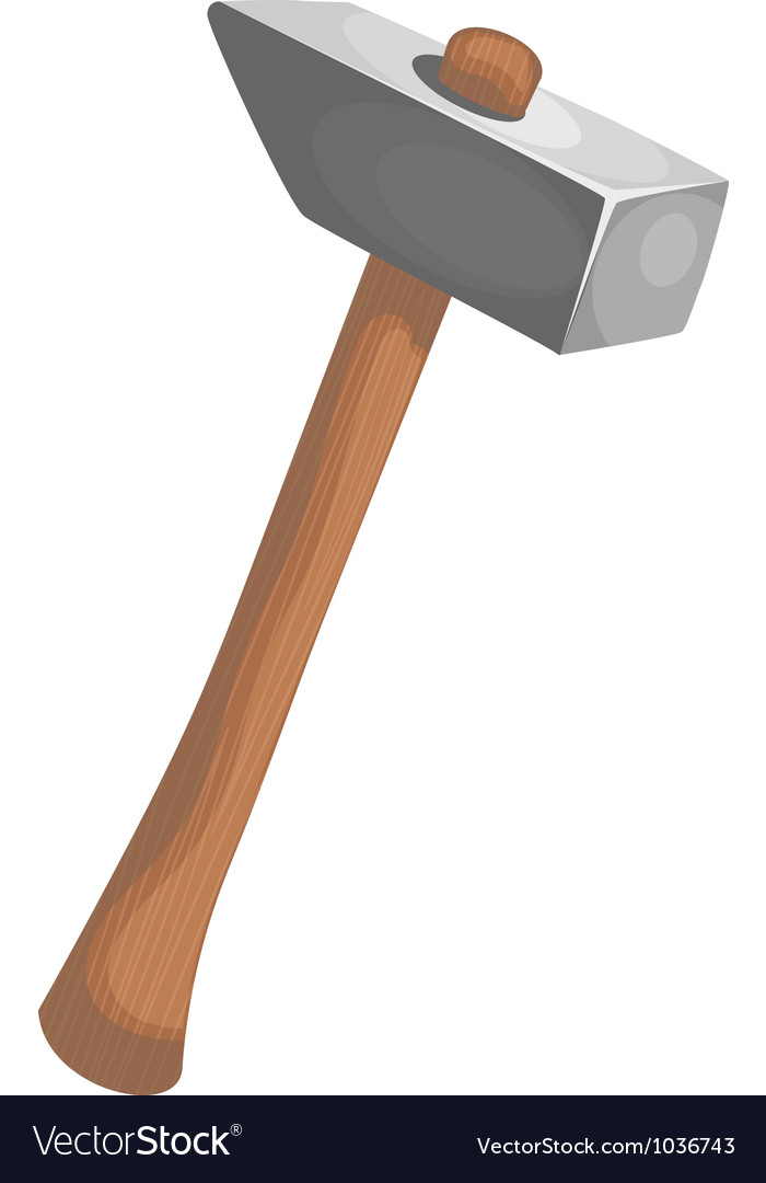 Hammer cartoon vector image
