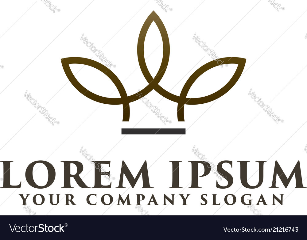 Minimalist crown logo design concept template