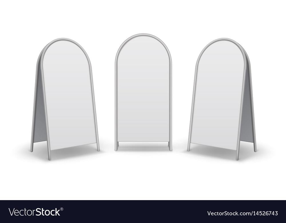 Set of advertising street handheld sandwich stands vector image