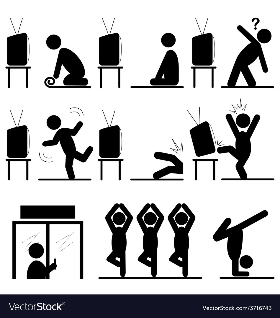 Yoga Icons Story Of The Path To Success Training Vector Image