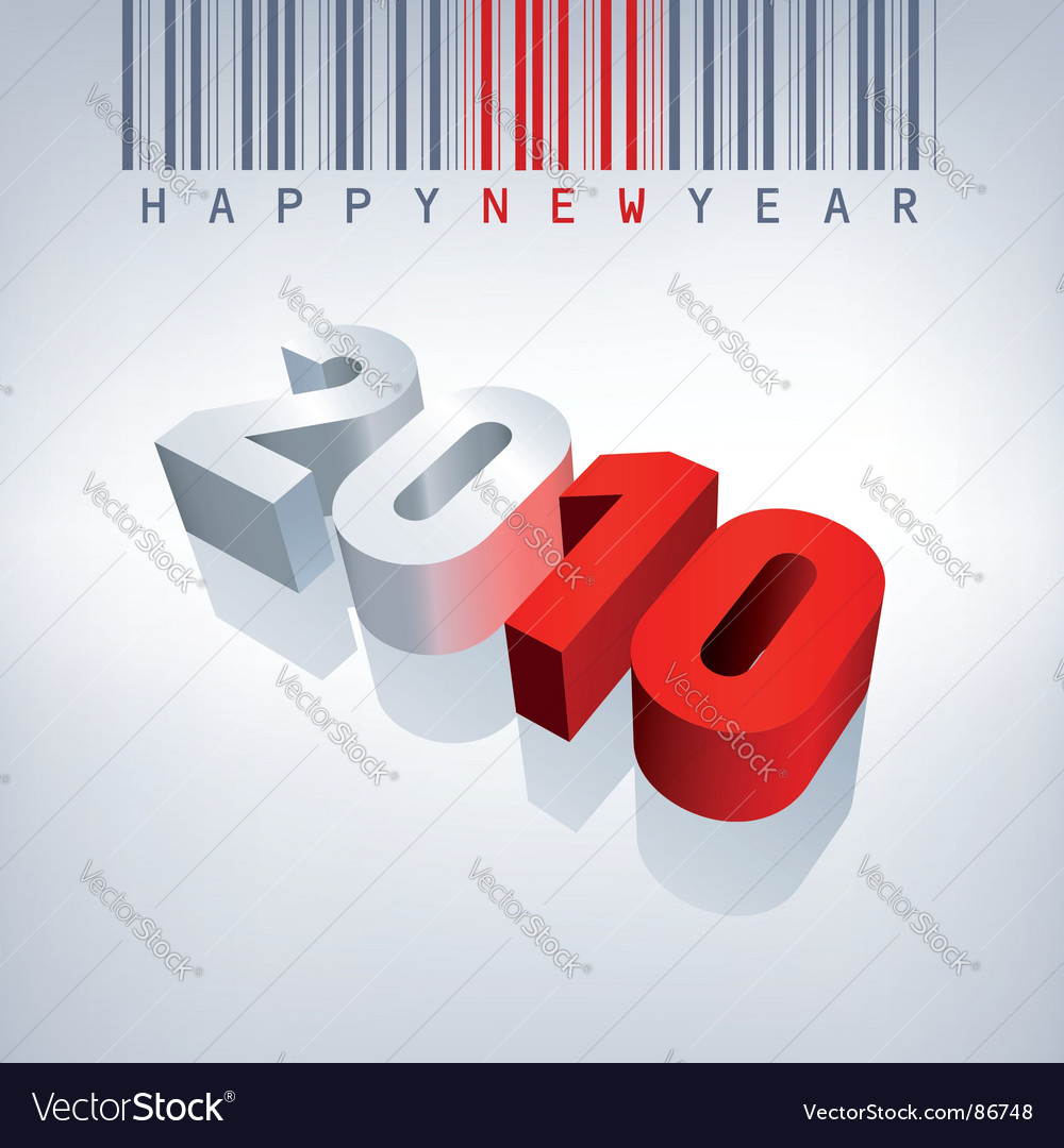 barcode vector. 2010 New Year Barcode Vector