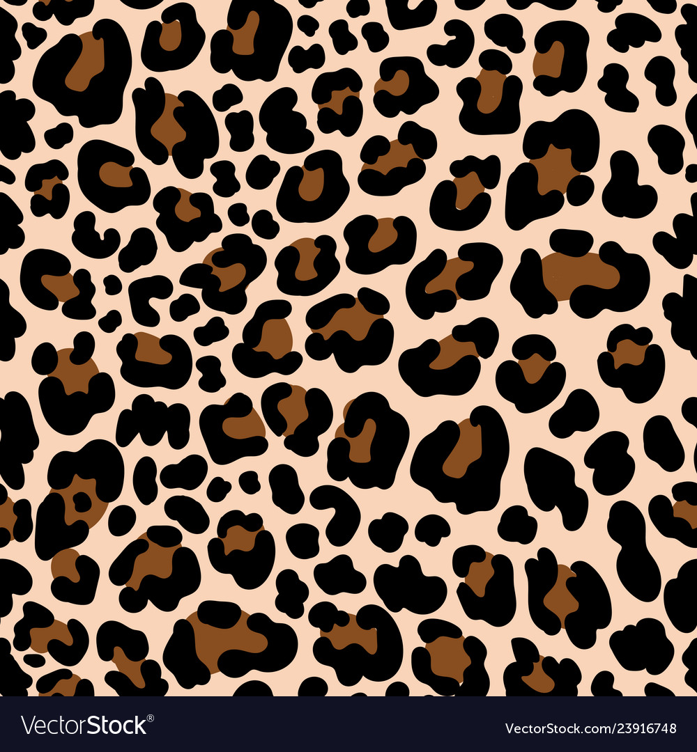 Animal pattern leopard seamless background with