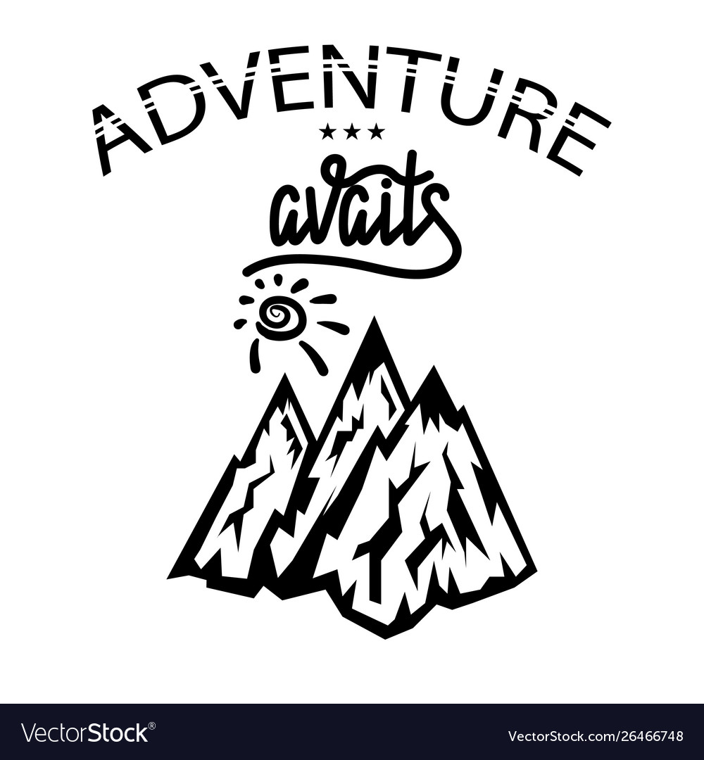 Concept travel discovery hiking adventure vector image