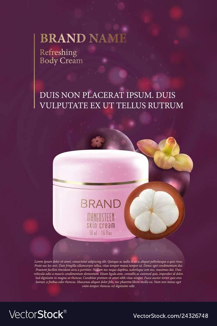 Design advertising poster for cosmetic product for