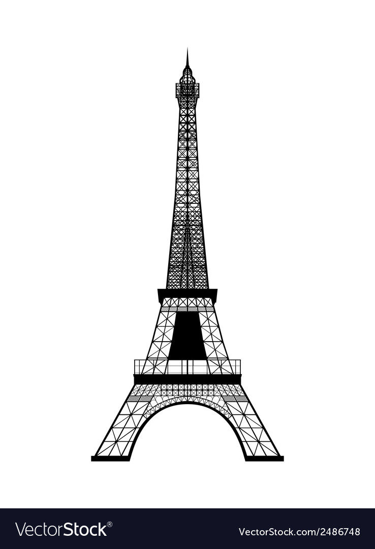 Eiffel tower silhouette royalty free vector image eiffel tower silhouette vector image thecheapjerseys Gallery
