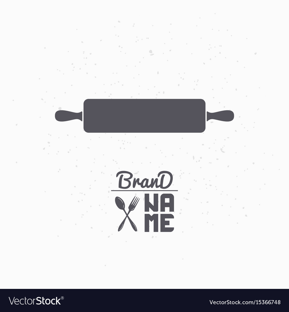 Hand drawn silhouette of rolling pin vector image
