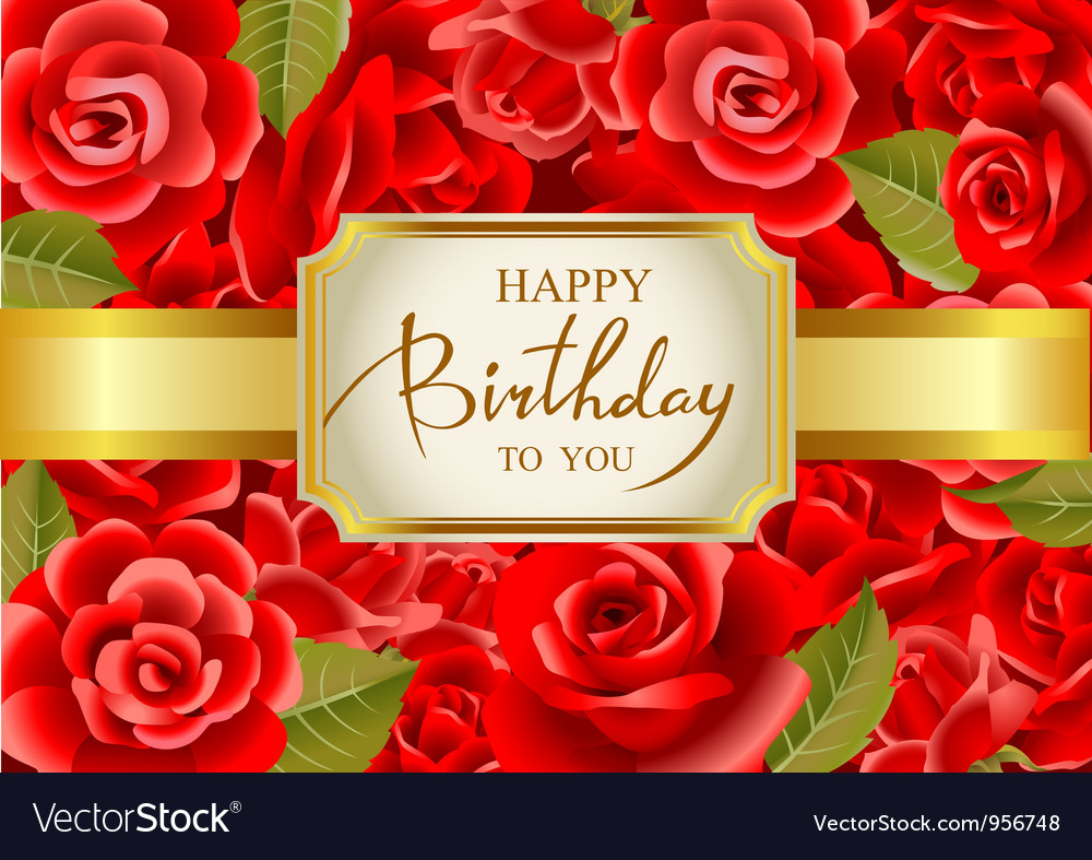 Happy Birthday Royalty Free Vector Image Vectorstock