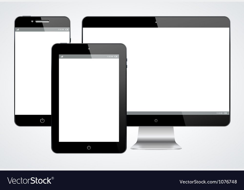 Realistic modern gadgets vector image