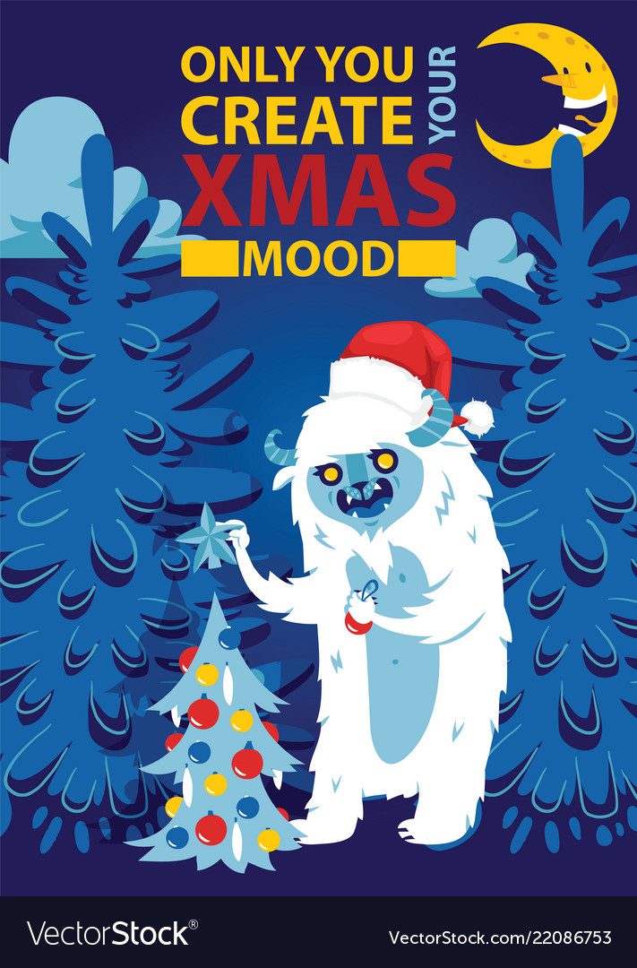 Christmas night forest bigfoot monster spooky