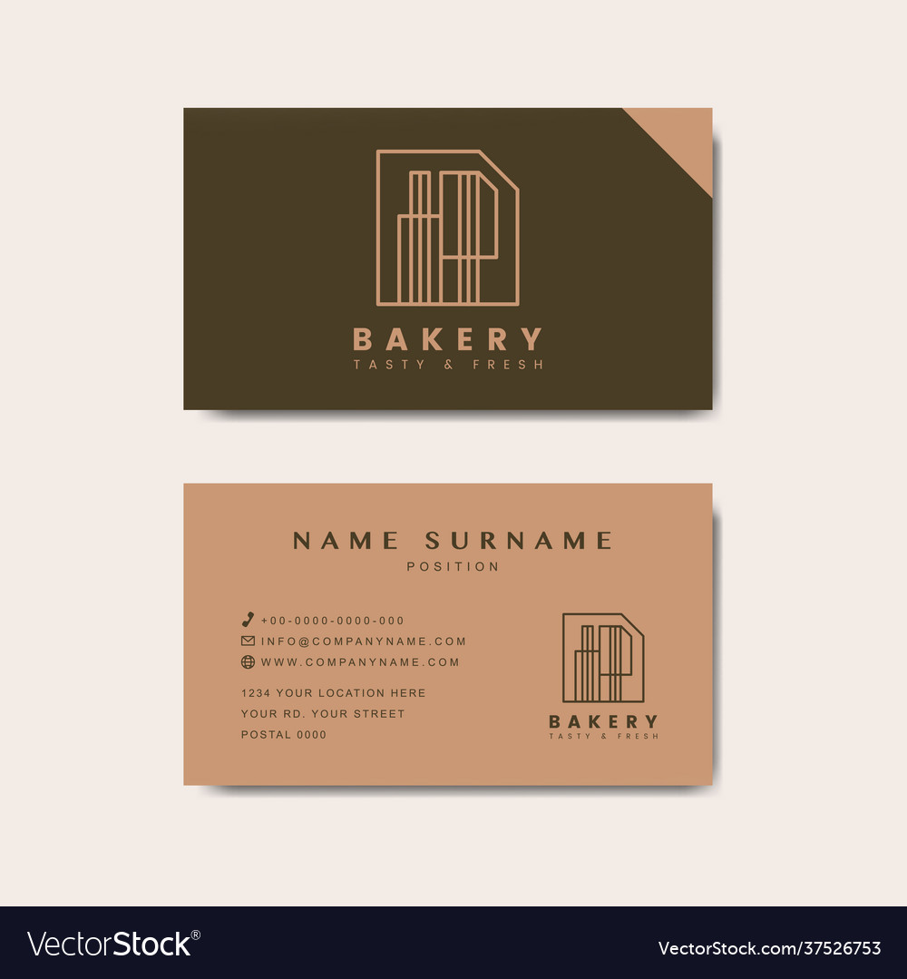 Coffee shop business card template Royalty Free Vector Image In Coffee Business Card Template Free