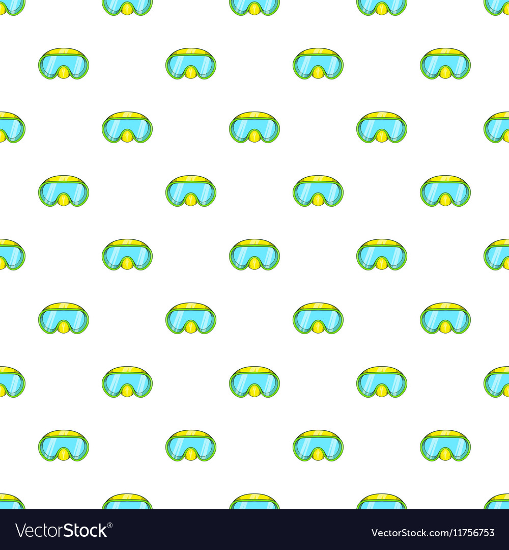 Goggles for diving pattern cartoon style vector image