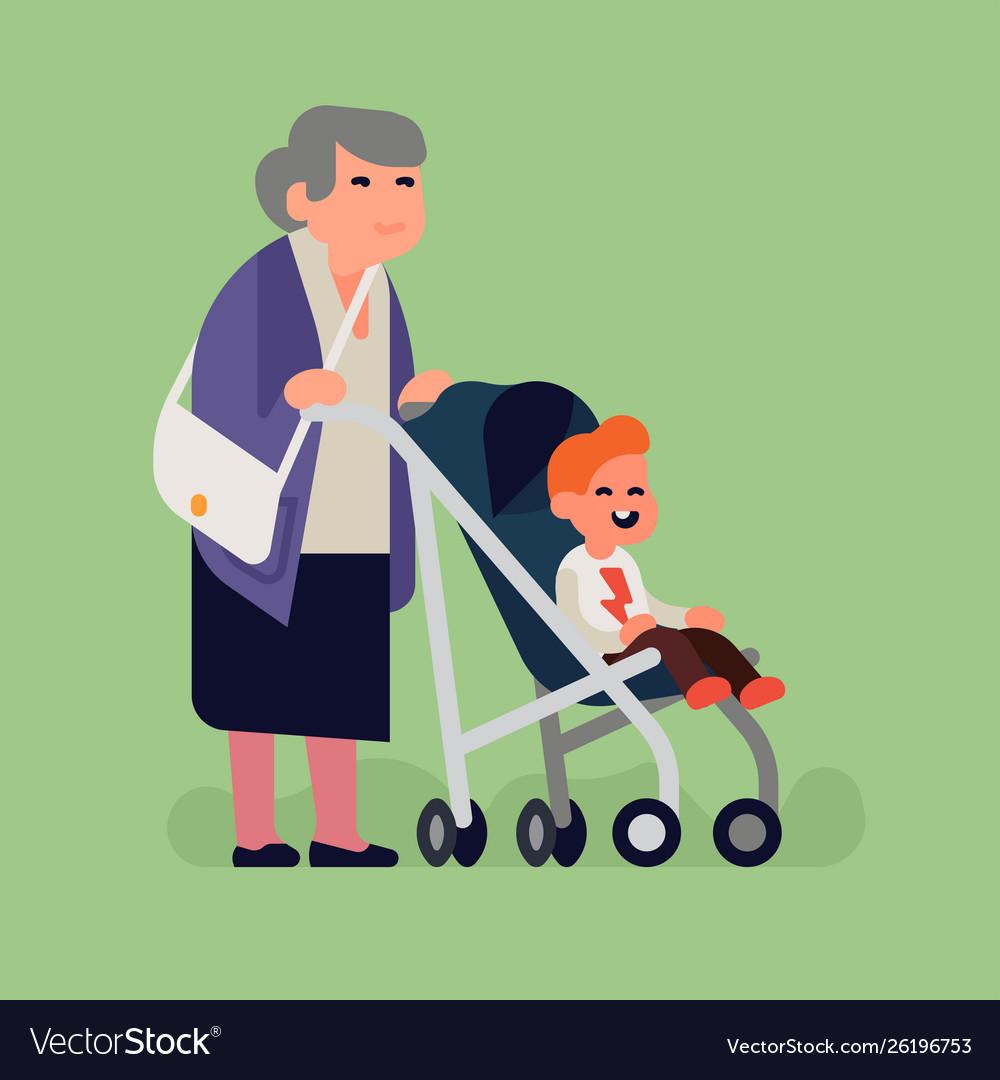 Grandma with little grandchild