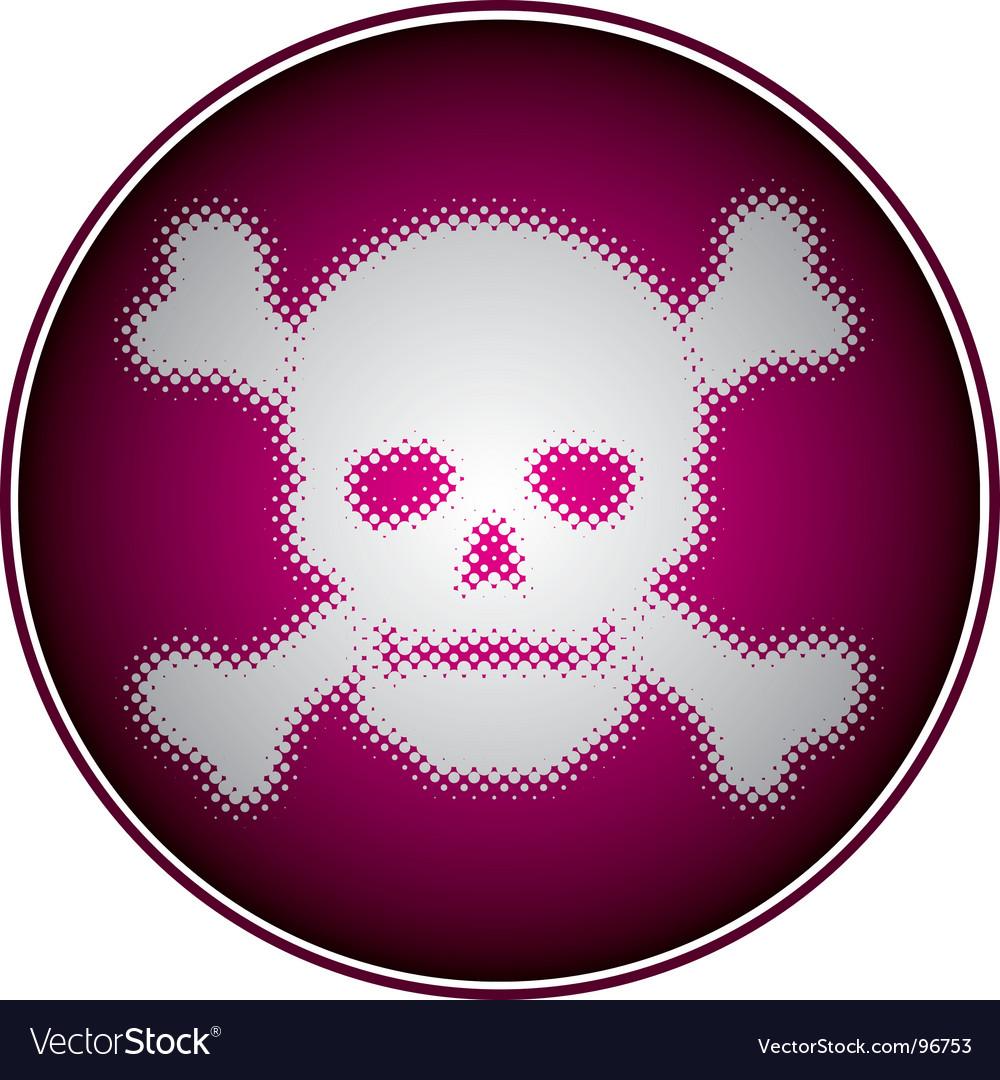 Halftone skull