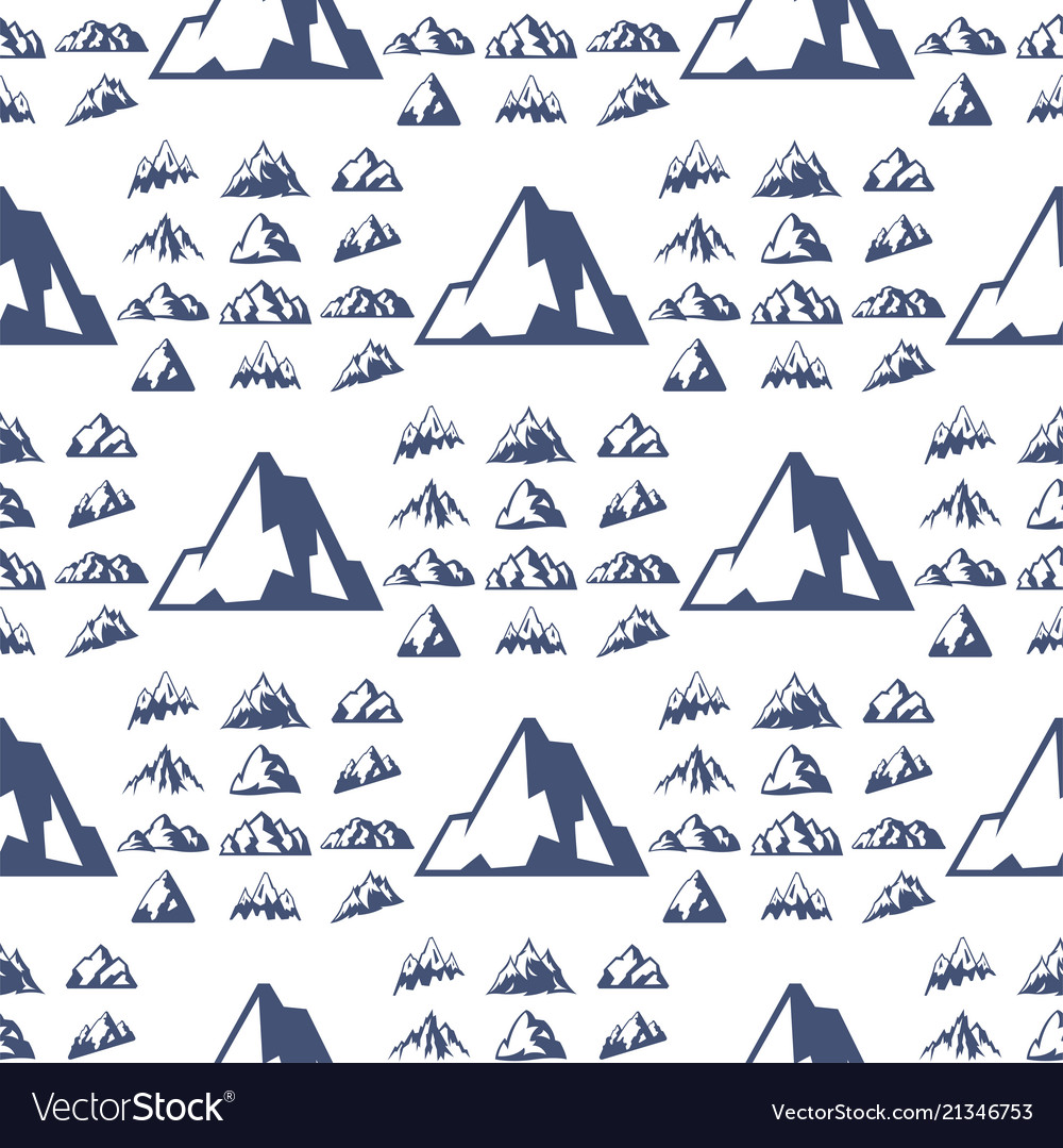 Mountain silhouette nature seamless pattern