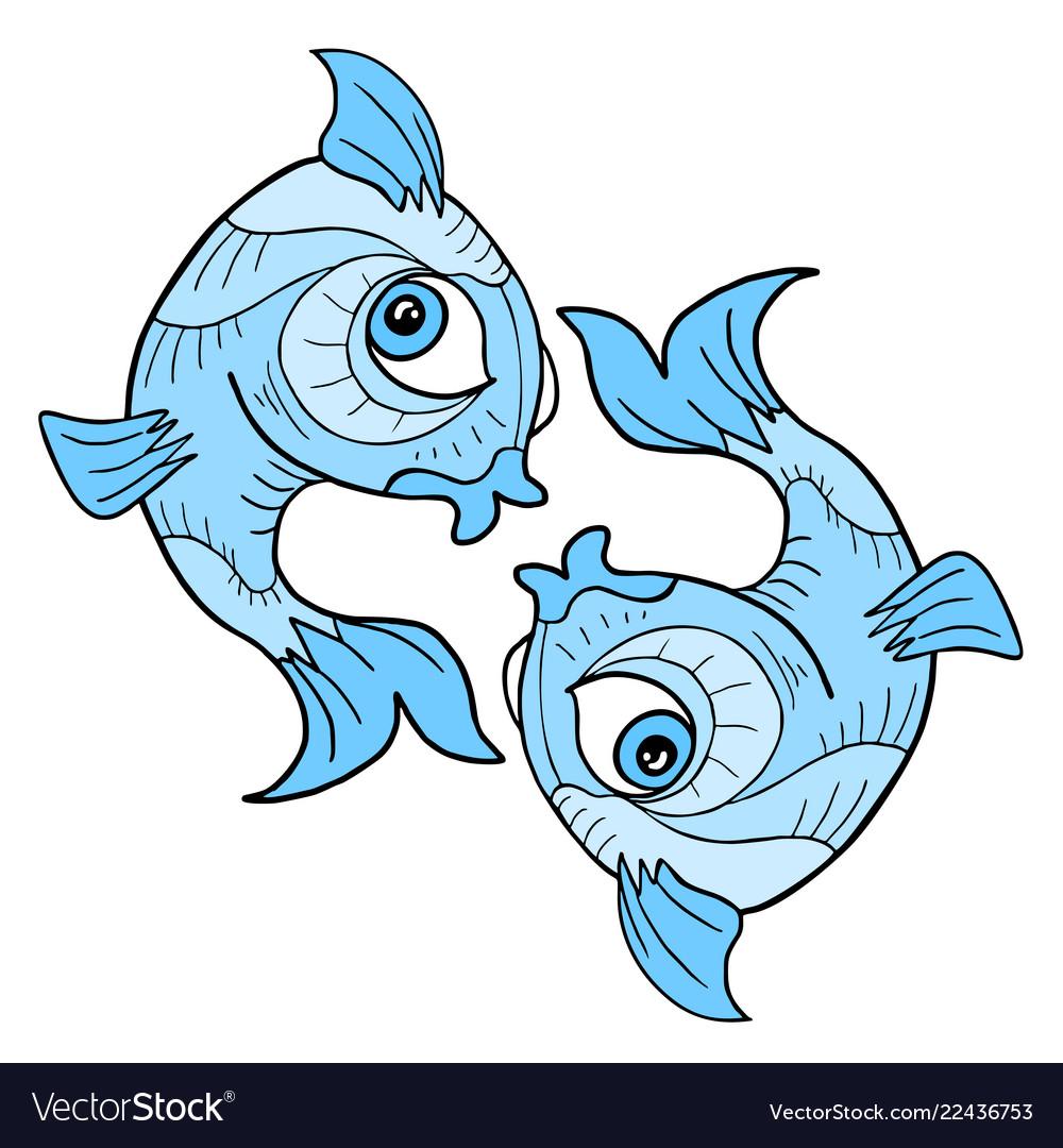 Pisces Symbol Royalty Free Vector Image Vectorstock