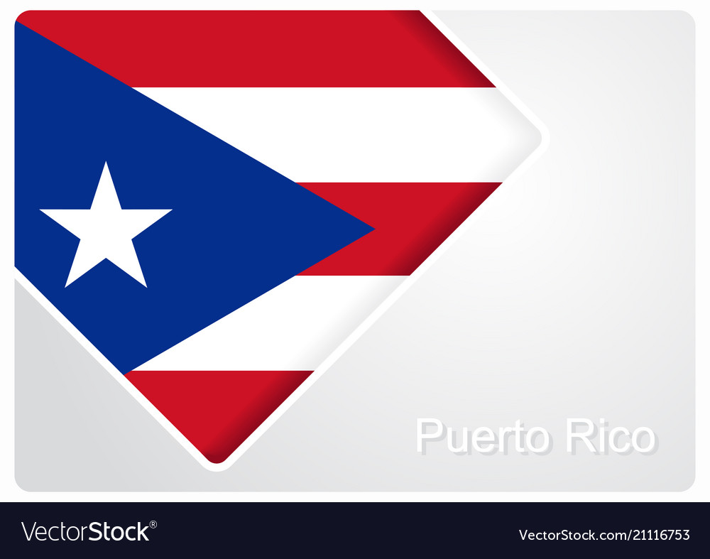 Puerto Rican Flag Design Background Royalty Free Vector